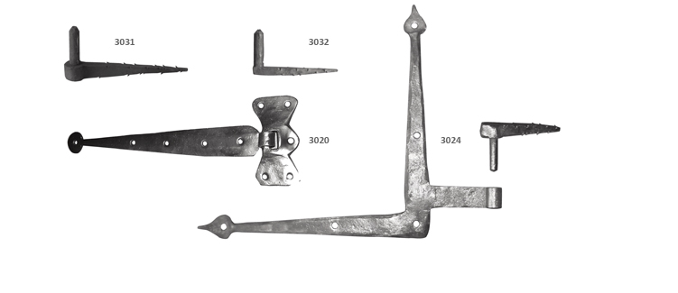 Drive pintles and strap hinges